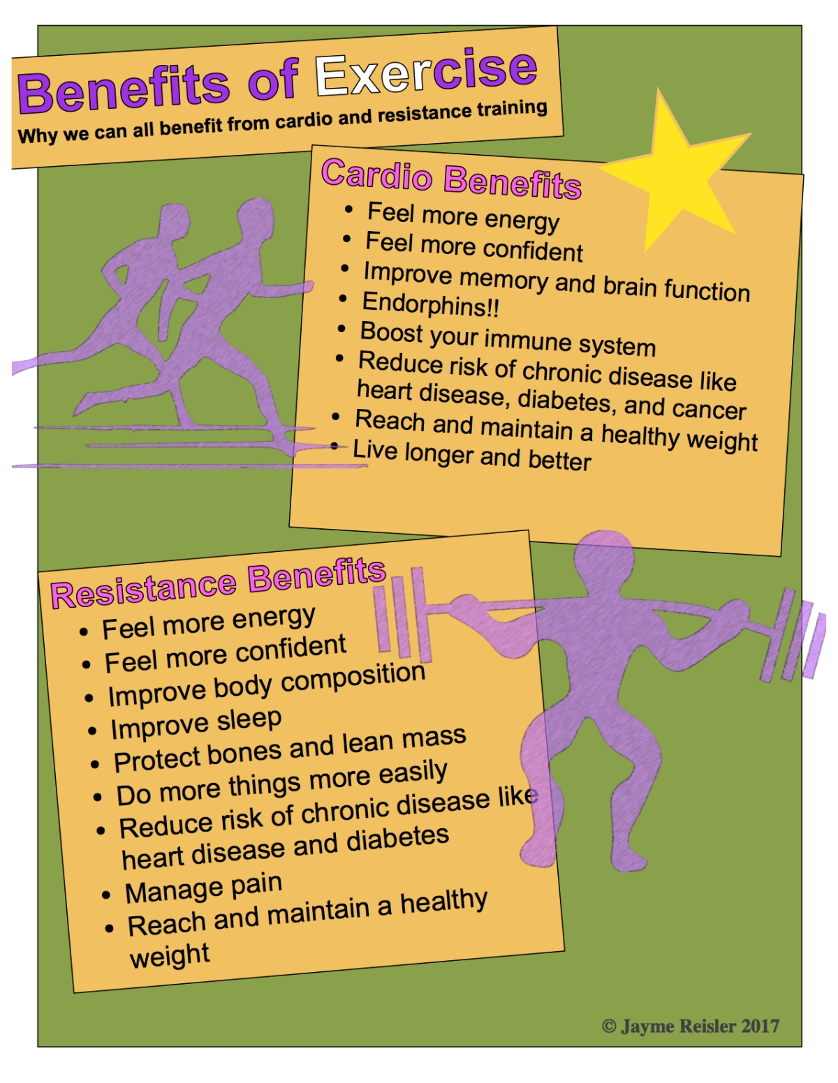 Benefits of exercise poster
